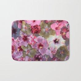 Hibiscus glow Bath Mat