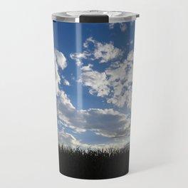 Corn Field Blue Sky Travel Mug