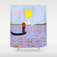 vietnam Shower Curtains featuring Vietnam by Design4u Studio