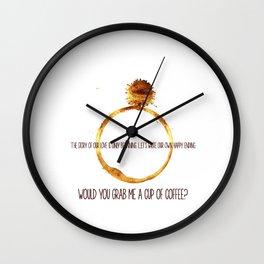 through thick and thin Wall Clock