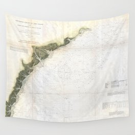Vintage Georgia & South Carolina Coastline (1874) Wall Tapestry