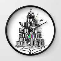 rap Wall Clocks featuring Rap God by Reducto