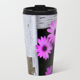 daisies through the fence Travel Mug