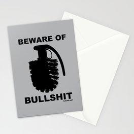 BEWARE OF BULLSHIT Stationery Cards