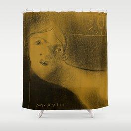 Winters Hymn: Part 199, Digital Drawing Shower Curtain