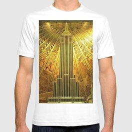 Empire State Building Lobby Art-Deco Sunburst Portrait T-shirt