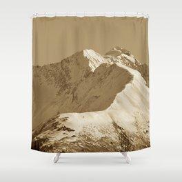 Majestic Mountain - Sepia Shower Curtain