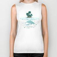 manatee Biker Tanks featuring Manatee Island by Lidra