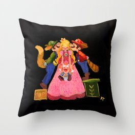 One kiss One up! Throw Pillow