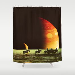 Horse ride Shower Curtain
