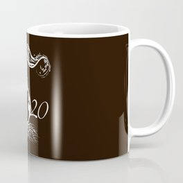 Mother Earth 2020 - White Outline On Brown Coffee Mug