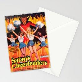 Satan's Cheeleaders 1977 Vintage Movie Poster Stationery Cards