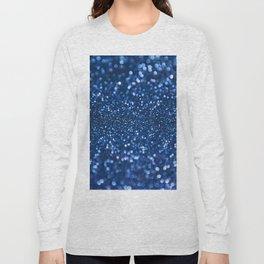 Blue Glamorous Sequins Long Sleeve T-shirt