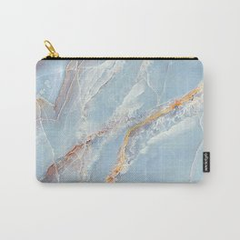 Trust - tender pastel blue marble (viii 2021) Carry-All Pouch