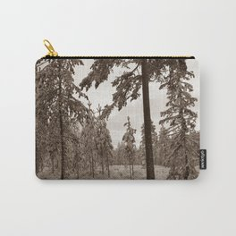 Winter Morning Sepia Carry-All Pouch