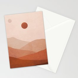 Aesthetic mountain Stationery Cards