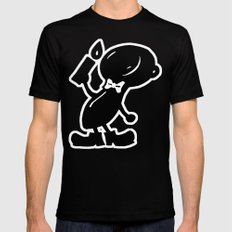 Piecy Black MEDIUM Mens Fitted Tee