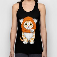 kitten in fox cap Unisex Tank Top