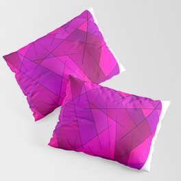 ABSTRACT LINES #1 (Purples, Violets, Fuchsias & Magentas) Pillow Sham