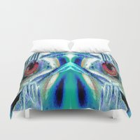 pain Duvet Covers featuring Pain by Robin Curtiss