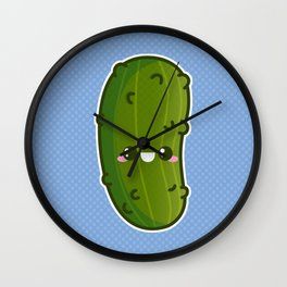 Kawaii Pickle Wall Clock