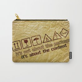 [ it's about the content ] Carry-All Pouch