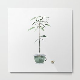 Avocado Tree Metal Print