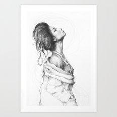 Pretty Lady Illustration Art Print