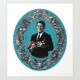 Ronald Reagan with Ham Art Print