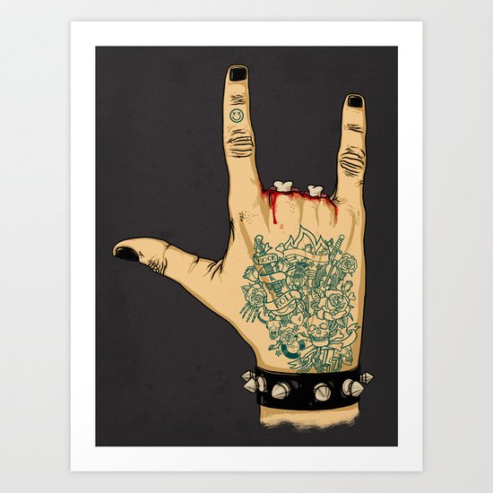 Radical Rocker Art Print