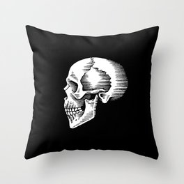 ye olde skull Throw Pillow