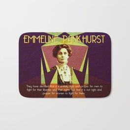 Emmeline Pankhurst Quote Bath Mat