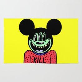 """KILL ME"".  (Mickeyes). Rug"