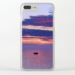 Dusk Reflected Clear iPhone Case
