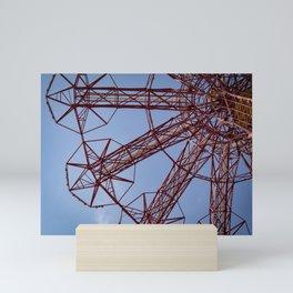 Red Parachute Drop Coney Island Mini Art Print
