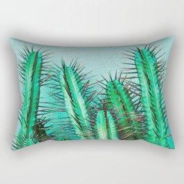 A prickly cactus on concrete Rectangular Pillow
