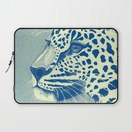 Leopard Turquoise feline glance Laptop Sleeve