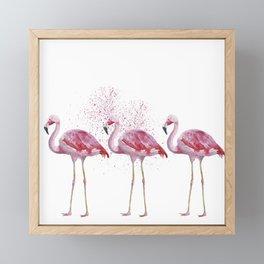 Three Flamingos #society6 Framed Mini Art Print