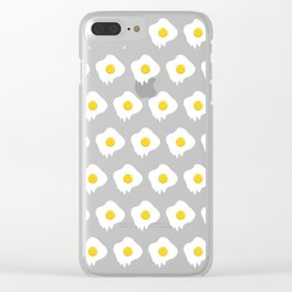 Fried Egg Dripping Clear iPhone Case