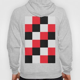 Black and Red Checkerboard Pattern Hoody
