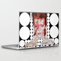"david bowie Laptop & iPad Skins featuring David Bowie ""Aladdin Sane"" by Louis Loizou"