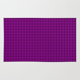 Zombie Purple and Black Halloween Gingham Check Rug