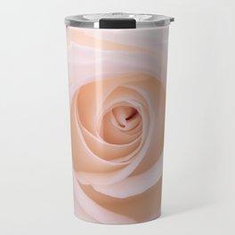 Peach Rose Travel Mug