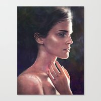 emma watson Canvas Prints featuring Emma Watson by Isabella Morawetz