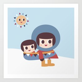 Ekymo and Baby Art Print