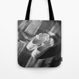 Ballet dance shoes. Black and White version. Tote Bag