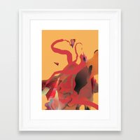 vertigo Framed Art Prints featuring Vertigo by Robert Høyem