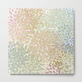 Floral Pattern Soft Summer Colors Metal Print