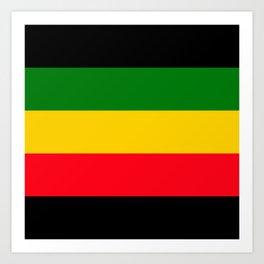 Rastafarian Colors Art Print