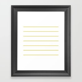 THIN MUSTARD STRIPE Framed Art Print